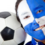 fotbollsfan — Stockfoto