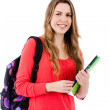 Female student isolated - Stock Photo