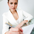 Business woman at the office — Foto Stock