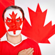 Stock Photo: Patriotic Canadiman