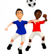 Royalty-Free Stock Photo: 3D Football players