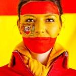 Patriotic Spanish woman — Stock Photo