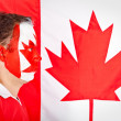 Stock Photo: Patriotic Canadian man