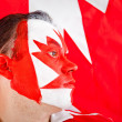 Patriotic Canadian man — Stock Photo #7759991