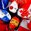 Group of with flags — Stock Photo