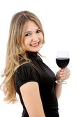 Drinking woman — Stock Photo