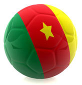 3D Cameroon football — Стоковое фото