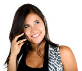 Woman on the phone — Foto de Stock