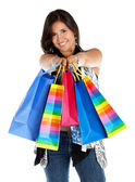 Happy shopping woman — ストック写真