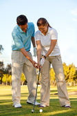 Learning golf — Stock Photo