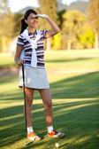 Woman playing golf — Foto Stock