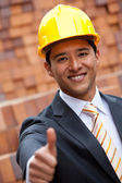 Engineer with thumbs-up — Stock Photo