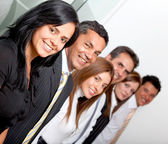 Business group in a row — Stock Photo