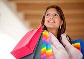 Beautiful shopping woman — Стоковое фото