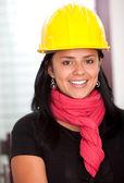 Female architect smiling — Stock Photo