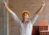 Happy construction worker — Stock Photo