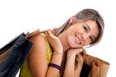 Dziewczyna zakupy z torby — Zdjęcie stockowe