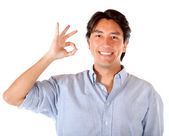 Man making an ok sign — Stock Photo