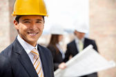 Male engineer at a construction site — Stock Photo