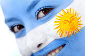 Argentinean flag portrait — Stock Photo