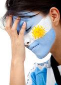 Fã de futebol argentino preocupado — Fotografia Stock