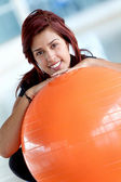 Gym woman portrait — ストック写真