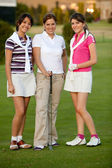 Group of female golf players — Stock Photo