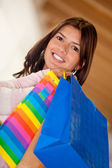Beautiful shopping woman — Stockfoto