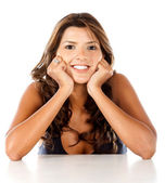 Schöne frau, lächeln — Stockfoto