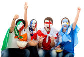 International football fans — 图库照片