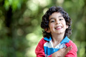 Happy boy outdoors — Stock Photo