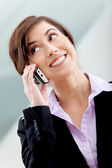 Business woman on the phone — Stock Photo