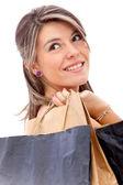 Beautiful shopping girl — Stock Photo