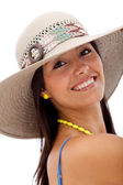 Summer woman with a hat — Stock Photo