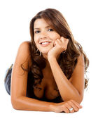 Mulher bonita sorrindo — Foto Stock