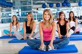 Women in a pilates class — Stock Photo