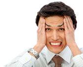 Stressful business man — Stock Photo