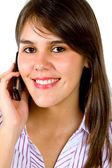 Femme d'affaires sur le téléphone — Photo