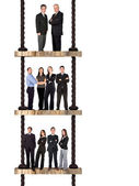 Business team work - corporate ladder — Stock Photo