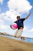 Having joy at the beach — Stock Photo