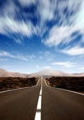 Road to success in motion — Stock Photo
