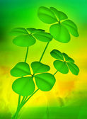 Lucky clovers illustration background — Stock Photo