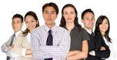 Socios de negocios y su equipo diverso — Foto de Stock