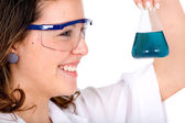 Chemistry student smiling — Photo