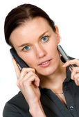 Confident business woman on the phone — Стоковое фото