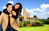 Young couple having fun at home — Stock Photo