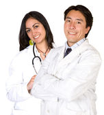 Latin american doctors - male and female — Stock Photo