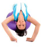 Fitness girl doing pilates — Zdjęcie stockowe