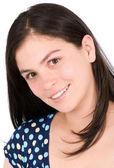 Casual mujer sonriendo — Foto de Stock