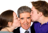 We love you dad - fathers day image — Stock Photo
